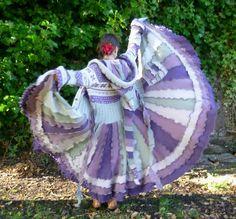 Lavender Mist - Gypsy elf pixie dream sweater coat by SpiralGypsy