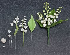 How to make a Lily of the Valley in Sugar