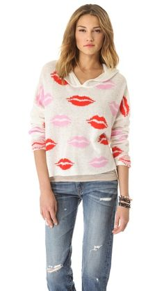 Wildfox Couture Make Out Party Hooded Sweater