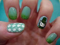 St Patricks day inspired nails