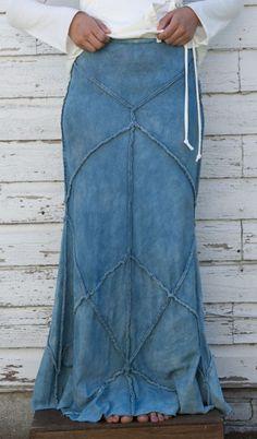 Alabama Denim Patchwork Skirt