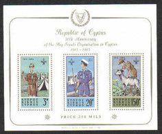 Cyprus Stamps SG 231a MS 1963 Boy Scouts sheet - MINT