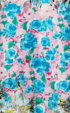 Silk-Satin Floral-Print Dress by Nina Ricci