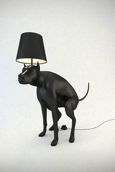 Pooping Dog Lamps by UK artist Whatishisname