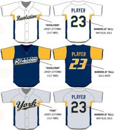 The York Revolution unveiled a trio of new uniforms for the 2012 season.