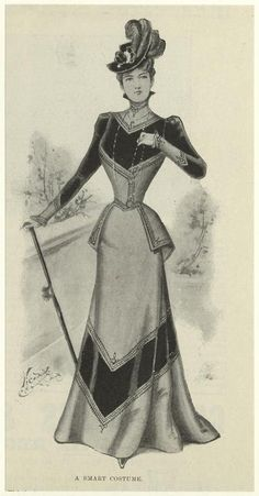 Smart costume 1898 fashion 18901900 1890 influenc 1890s dress