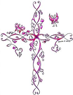 Cross tattoo I think is very cute.