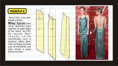 Modelagem de vestido frente única Marc Jacobs da Miley Cyrus. Fonte: ModelistA: FASHION GROUP INTERNATIONAL'S ANNUAL NIGHT OF STARS