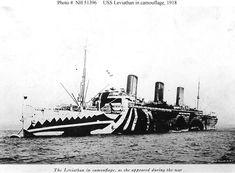 Dazzle Camo: USS Leviathan 1918