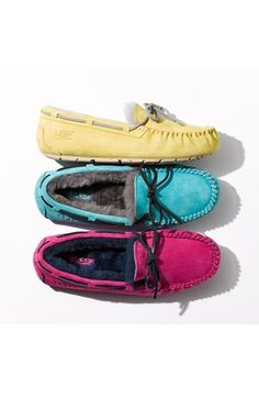 Love these colorful UGG slippers