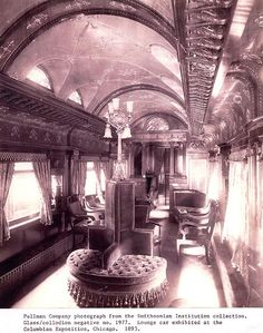 Pullman train car exhibited at Columbian Expo 1893