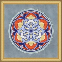 Flower Medallion Free Cross Stitch Pattern