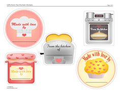 gifts from the kitchen free printable stickers