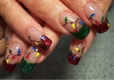 Christmas Lights - Festive Nail Looks for Winter