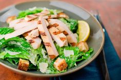 Grilled Chicken Caesar Salad! Less than 300 calories. Click for the #recipe. #beachbody #dinner