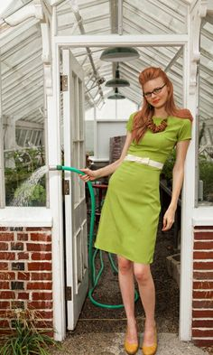 #Green! <3  Office clothes #2dayslook #fashion #new #nice #Officeclothes  www.2dayslook.com