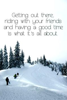 Riding with friends.