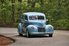Baby blue 1940 Ford - soo cool  That's why I have a Chrysler PT Cruiser!!
