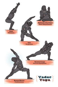 Star Wars Yoga Posters |Gadgetsin --  OHM! --   Like, Share, Repin :) --   #Nutritionable --   http://www.nutritionable.com