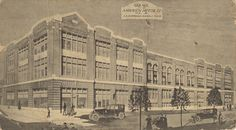 The simple postcard above shows a lesser-known Dempwolf building, Anderson Motor Co., via Blake Stough Preserving York blog