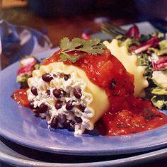 Black Bean Lasagna Rolls | MyRecipes.com