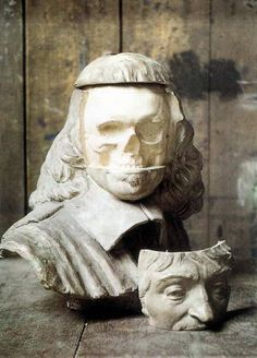 Paul Richer: Buste de Descartes avec montage incorporé de son crane, 1913.