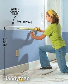 How to install chair rails. Just did this in our new dinning room with two tone walls, it's not as hard as I thought it would be!