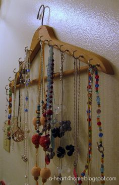 necklace organizer | Finished Friday: Easy DIY Necklace Holder - All Our Days
