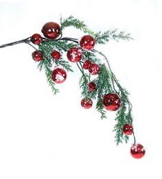 Cyress Pine Spray #jinglebells #bells #red #snow #Christmas
