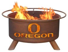 Patina F245 University of Oregon, Get fired up with a hot new University of Oregon Collegiate Outdoor Fire Pit. Alumni, students, and any die-hard fan will love these sturdy collegiate Fire Pits. Each pit comes with a poker, a spark s..., #Outdoor Living, #Patio, Lawn & Garden, http://www.pylinks.com/store/item-B002MKAXIU