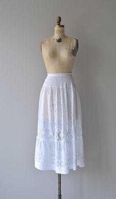 Antonia skirt vintage Edwardian eyelet lace skirt by DearGolden