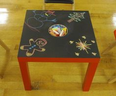 DIY IKEA Chalkboard Table For Kids!