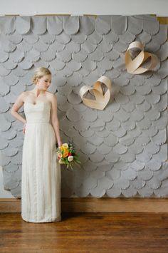 DIY Art Deco fishscale backdrop