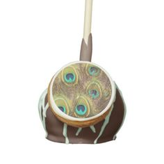 Brown and Gold Peacock cake pop