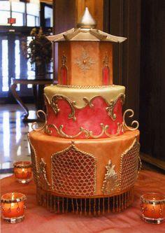 Asian Pagoda Cake