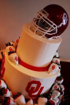 Oklahoma Sooners Football Birthday Cake