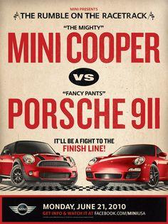 Porsche vs Mini Cooper