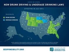 In July, new laws passed by state legislatures this year will go into effect that address drunk driving and underage drinking. Find out what your state is doing to prevent alcohol-related incidents with our new blog post!