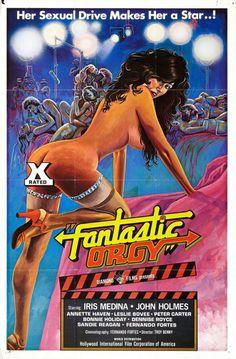 vintage πόστερ ταινιών πορνό