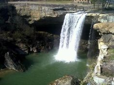 Noccalula Falls Gadsden Al. Great place to see, along with nature trails, and train rides. I love going here when visiting my family in Alabama.