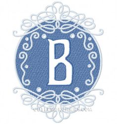 Free Embroidery Design: Letter B - I Sew Free