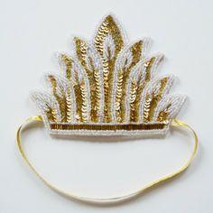 Sequin tiara hairband