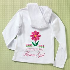 Personalized Flower Girl Hoodie | #exclusivelyweddings | #flowergirlgifts