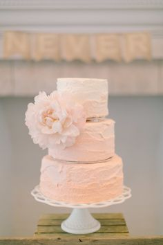Pink ombre cake: http://www.stylemepretty.com/2013/10/16/newport-wedding-from-ruth-eileen-photography/ | Photography: Ruth Eileen - http://rutheileenphotography.com/