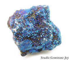 Rock & Mineral Rough Specimen Titanium Blue by StudioGemstoneJoy, $7.99