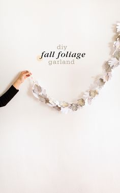 DIY Fall foliage garland