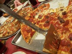 Red Rose Pizzeria in Springfield, MA...I dream about their pizza, no joke! If you are ever in West Mass...must stop by home made Italian food, its all yummm!