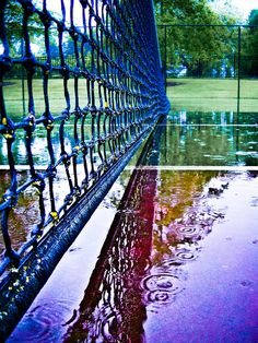 Tennis Court In Rain
