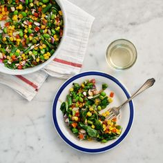 Edamame and corn succotash by Love and Lemons for Anthology Mag.