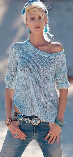 jean, summer blue, street style